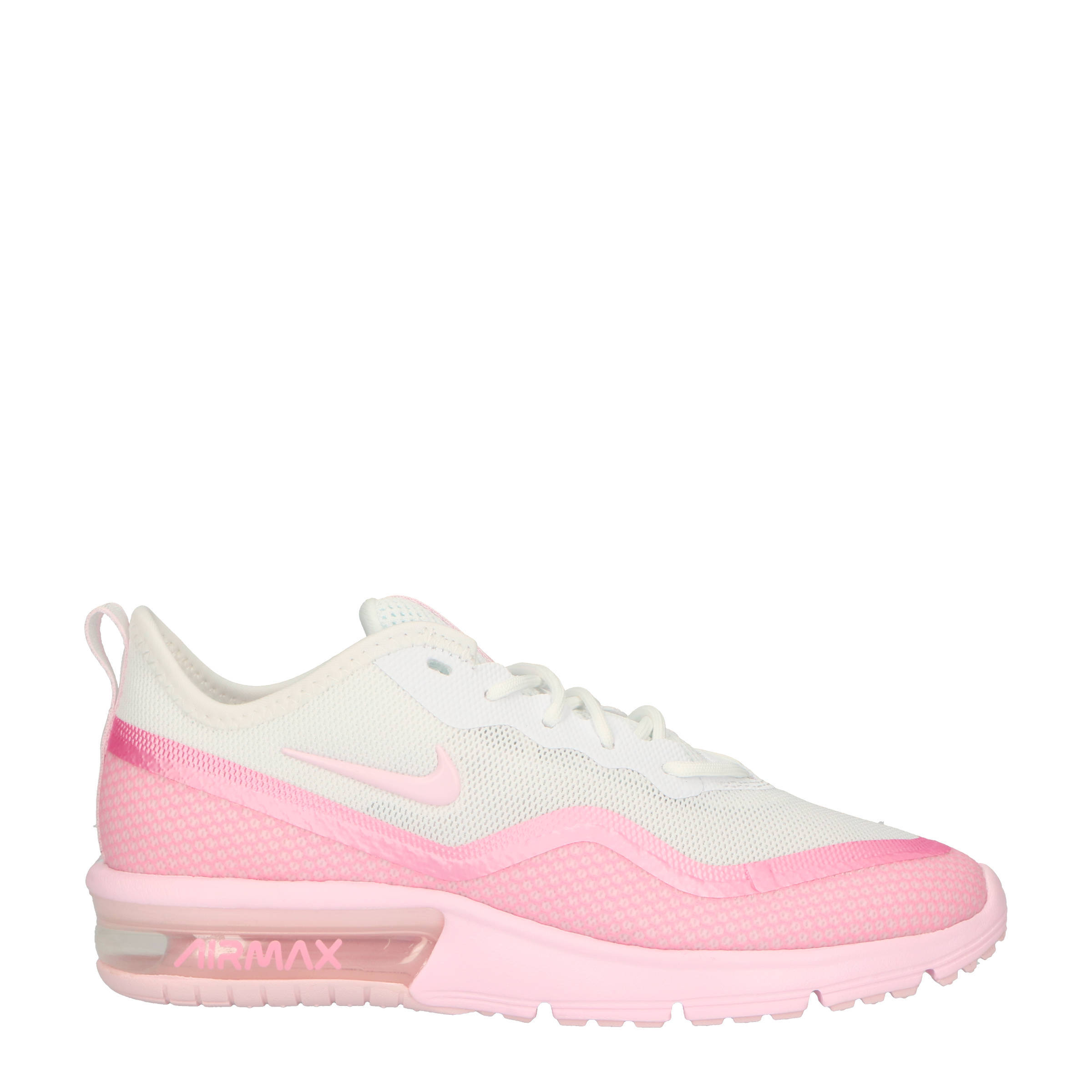 2e364c2fdd0 Nike Air Max Sequent 4.5 sneakers wit/roze | wehkamp