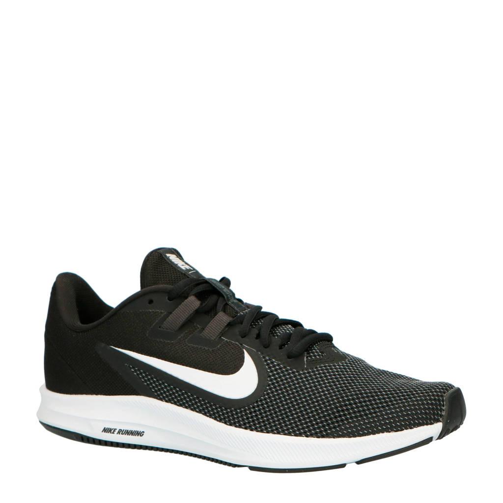 Nike Downshifter 9 hardloopschoenen zwart/wit, Zwart/wit