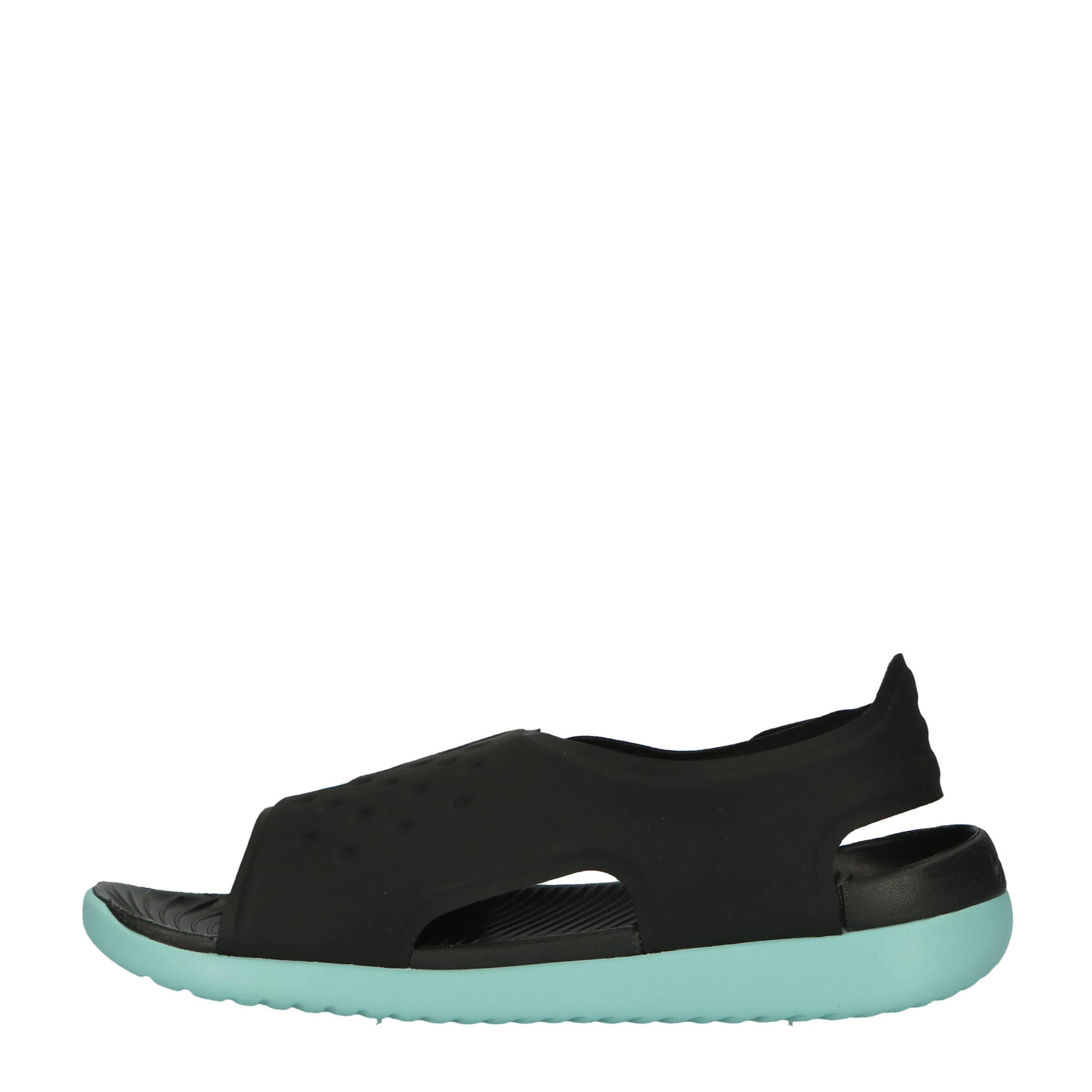 2a96fcacc035 Nike Sunray Adjust 5 waterschoenen zwart mintgroen kids