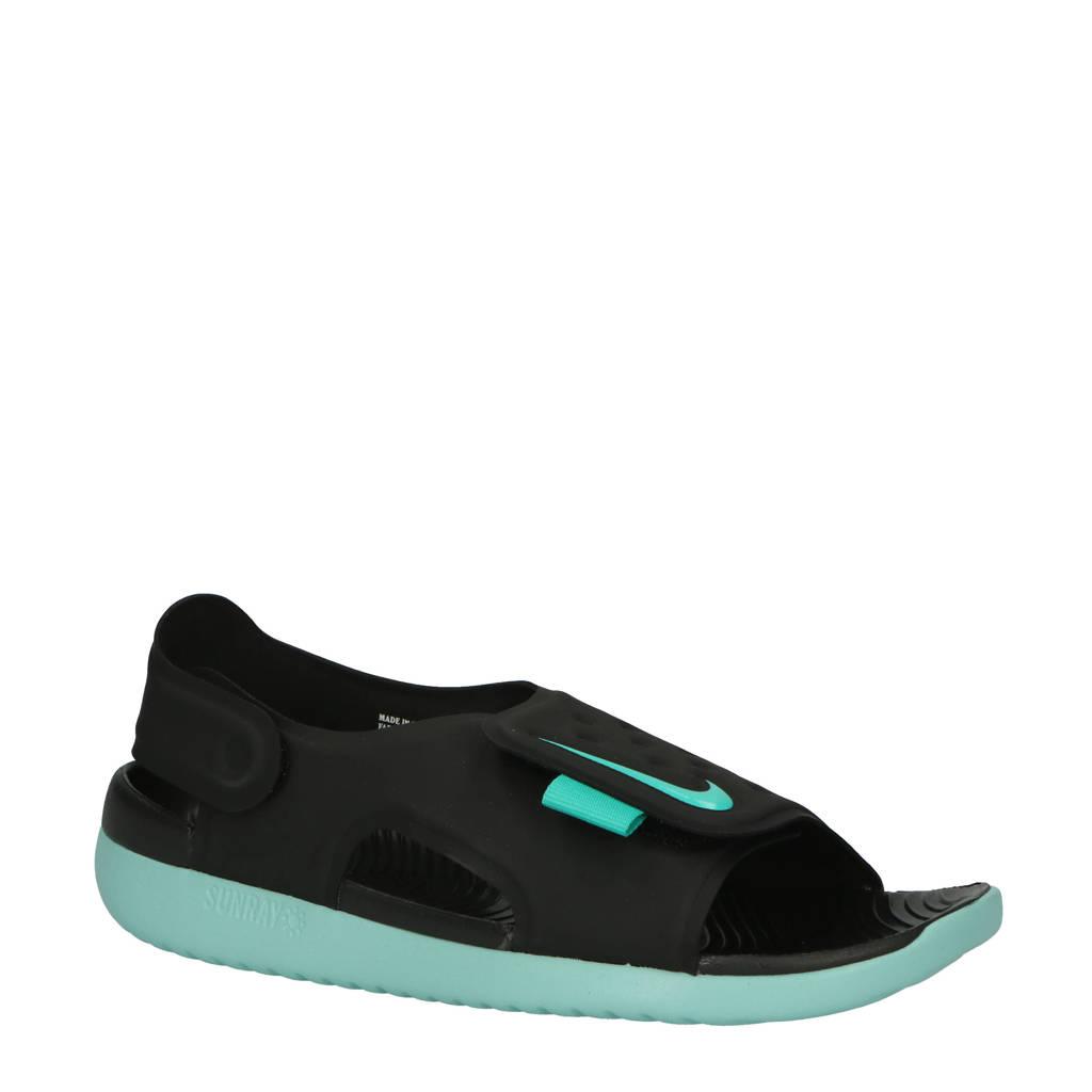Nike   Sunray Adjust 5 waterschoenen zwart/mintgroen kids, Zwart/mintgroen
