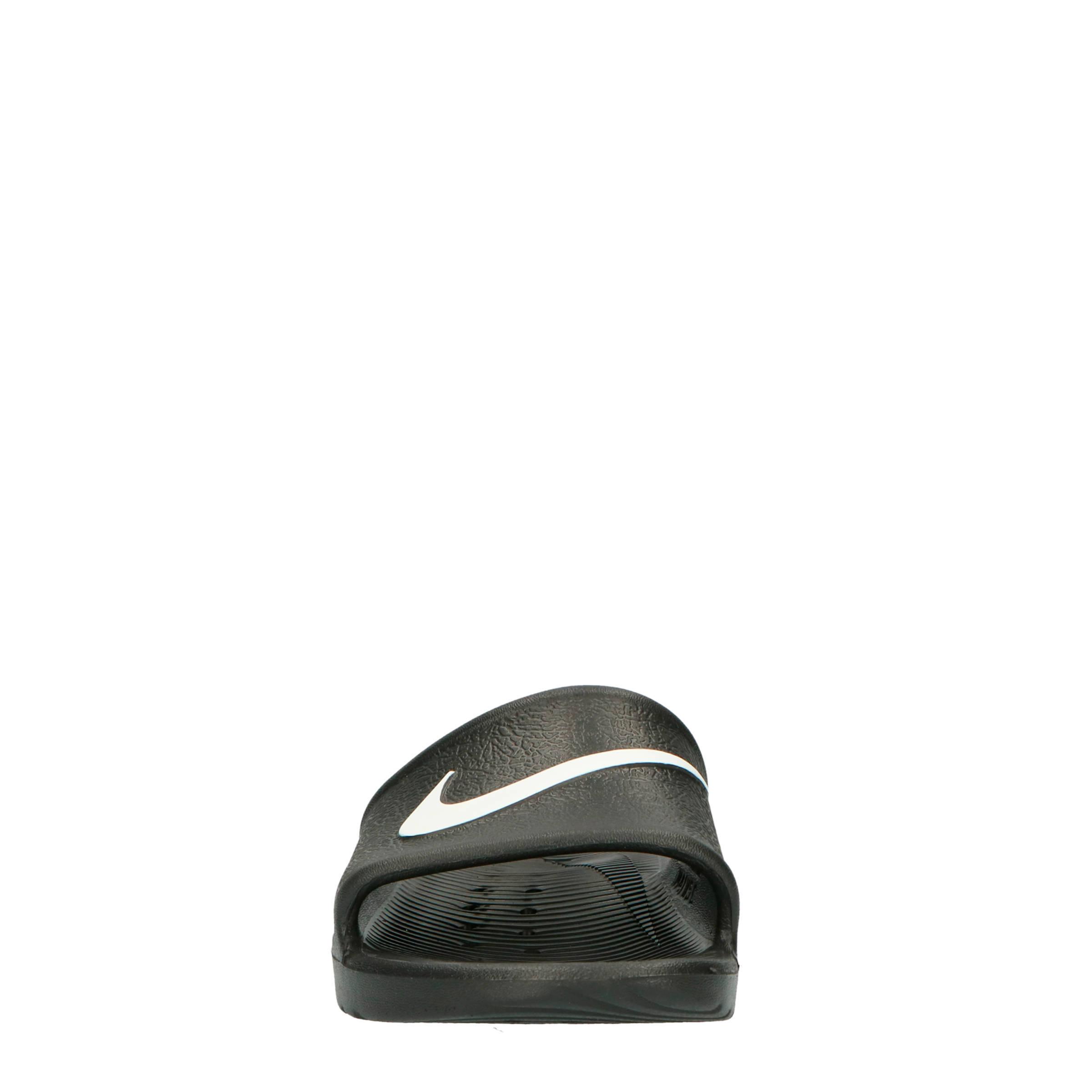 c2e2b676cda Nike Kawa Shower (GS/PS) badslippers zwart   wehkamp