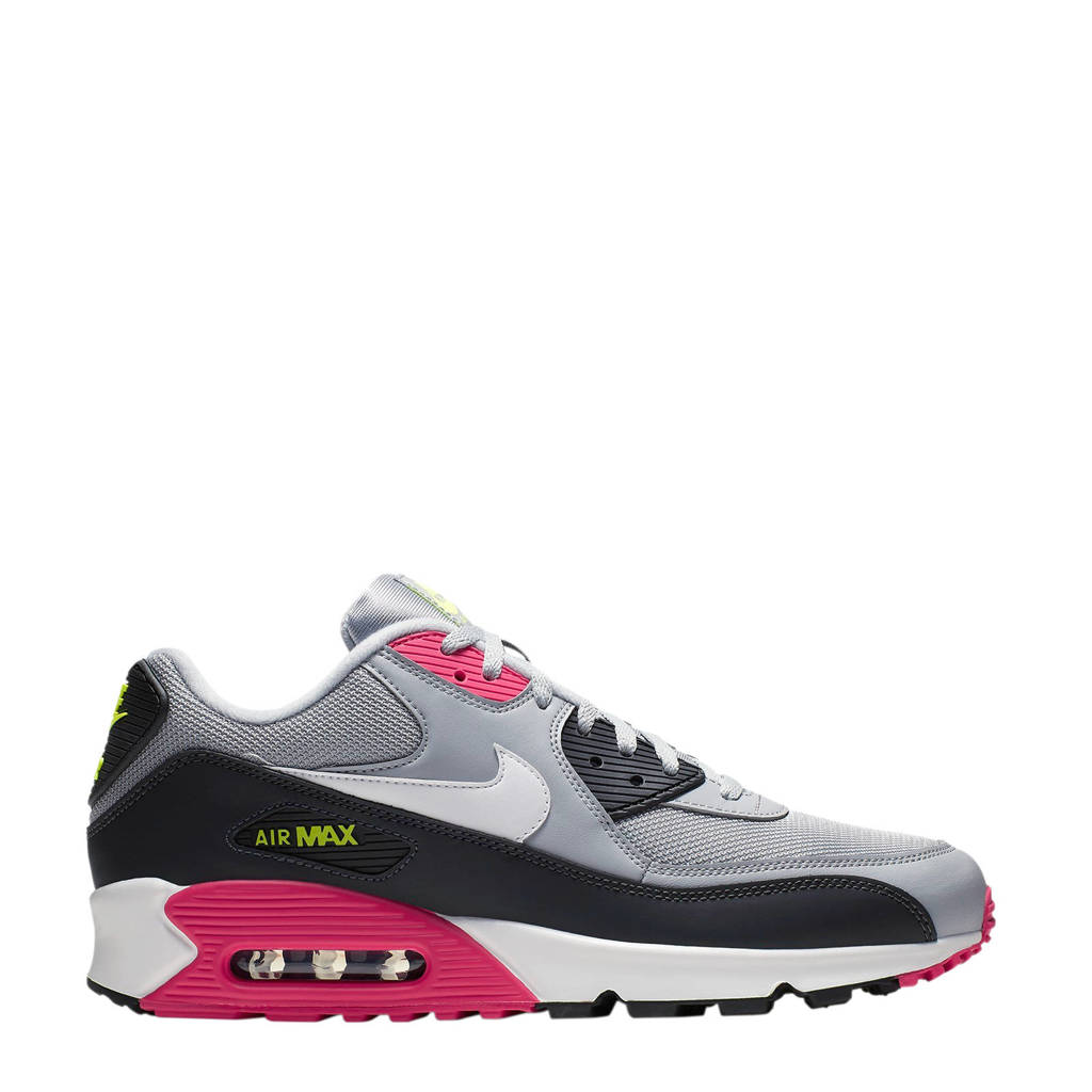 9e47422c59f Nike Air Max 90 Essential sneakers, Grijs/wit/antraciet/roze