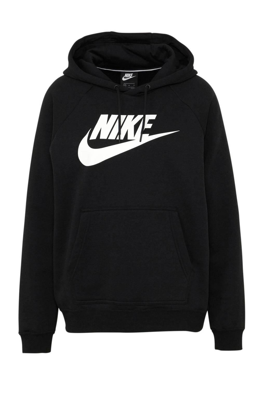 Nike sweater met printopdruk zwart/wit, Zwart/wit