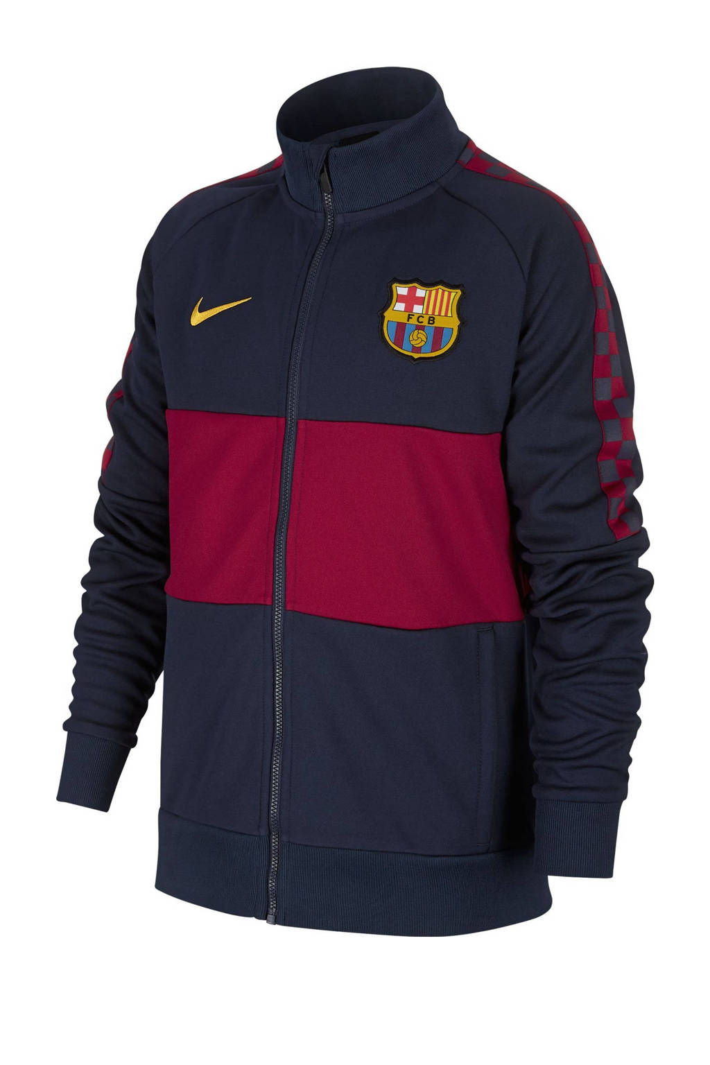 Nike  FC Barcelona voetbalvest, Donkerblauw/bordeauxrood