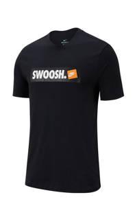 Nike   sport T-shirt met printopdruk zwart, Zwart