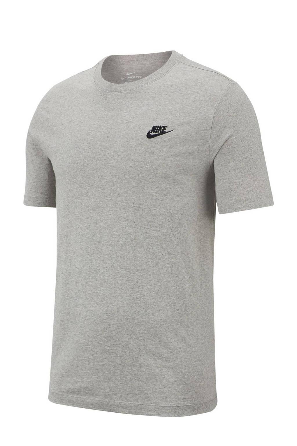 Nike T-shirt grijs, Grijs melange/zwart