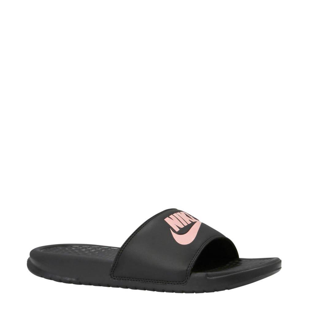 Nike   slippers Benassi JDI zwart/rose goud, Zwart/rose goud