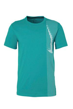 sport T-shirt aquablauw