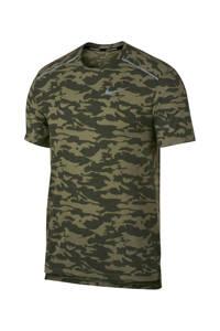 Nike   hardloopshirt camouflageprint, Bruin