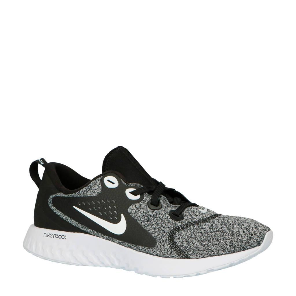 Nike   Legend React hardloopschoenen zwart, Zwart/wit