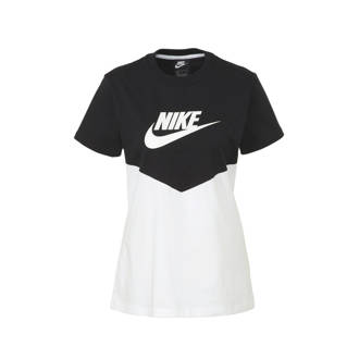 80c54f7248f T-shirt met printopdruk zwart/wit