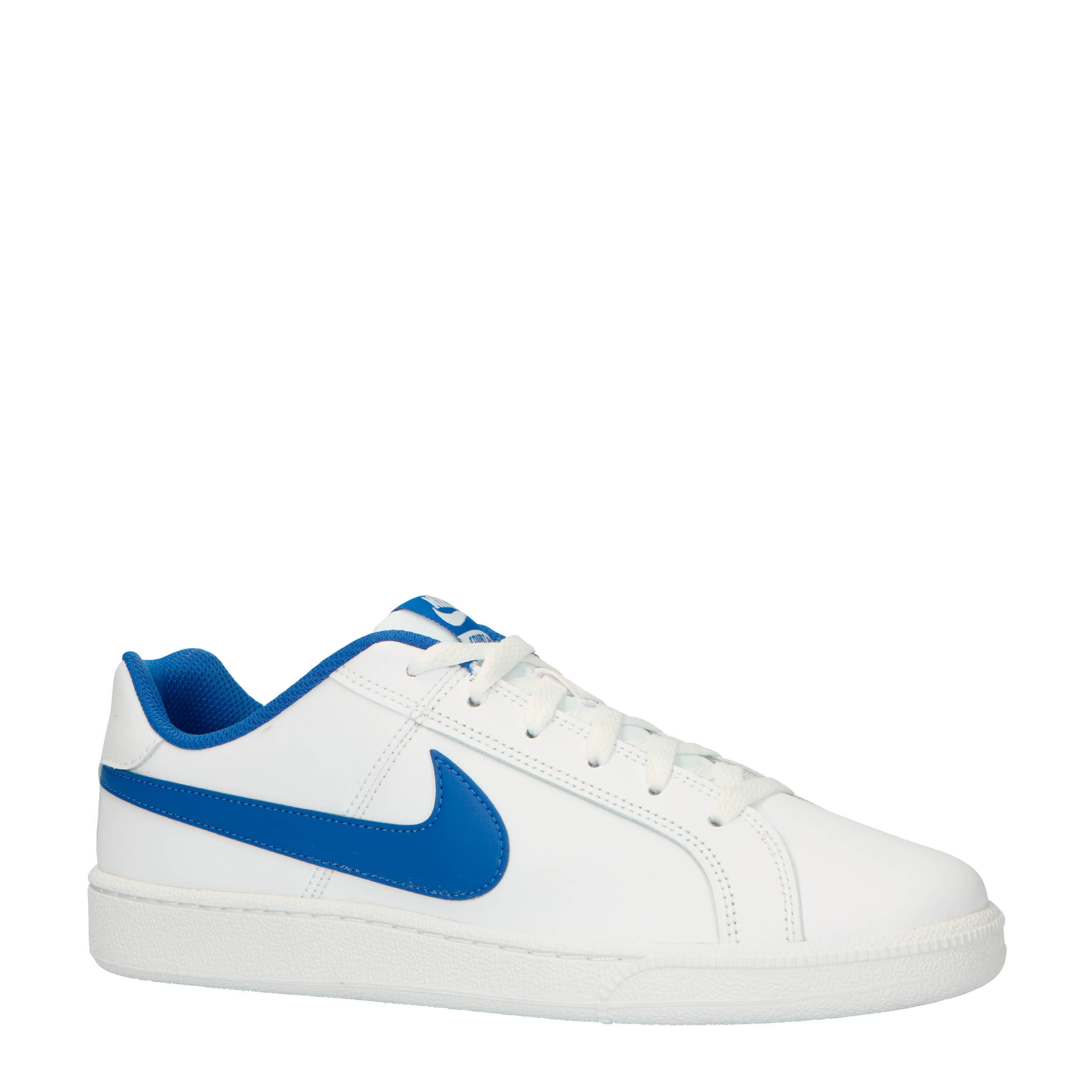 Nike Court Royale leren sneakers wit/blauw | wehkamp