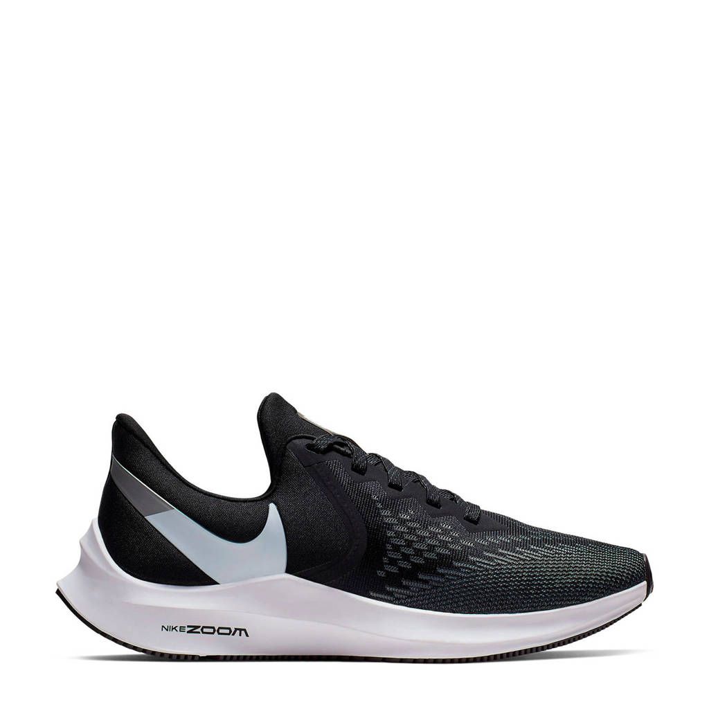 Nike Air Zoom Winflo 6 hardloopschoenen zwart, Zwart/wit