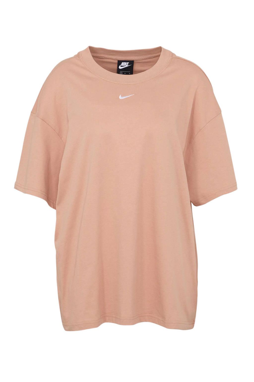 Nike oversized T-shirt oudroze, Oudroze