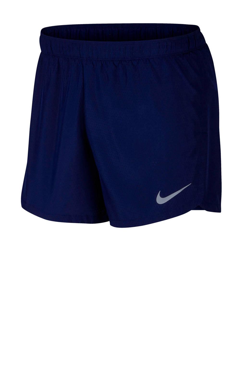 Nike   hardloopshort donkerblauw, Donkerblauw