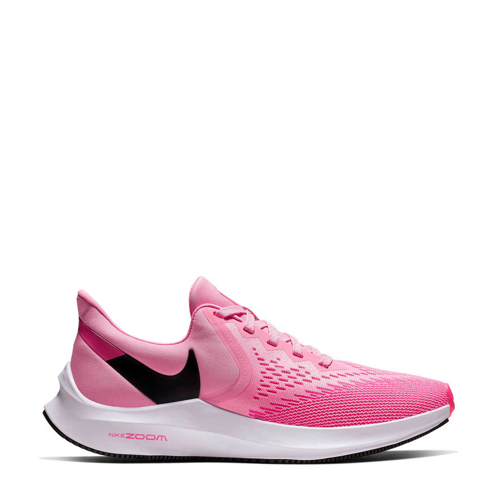Nike Air Zoom Winflo 6 hardloopschoenen roze, Roze/zwart
