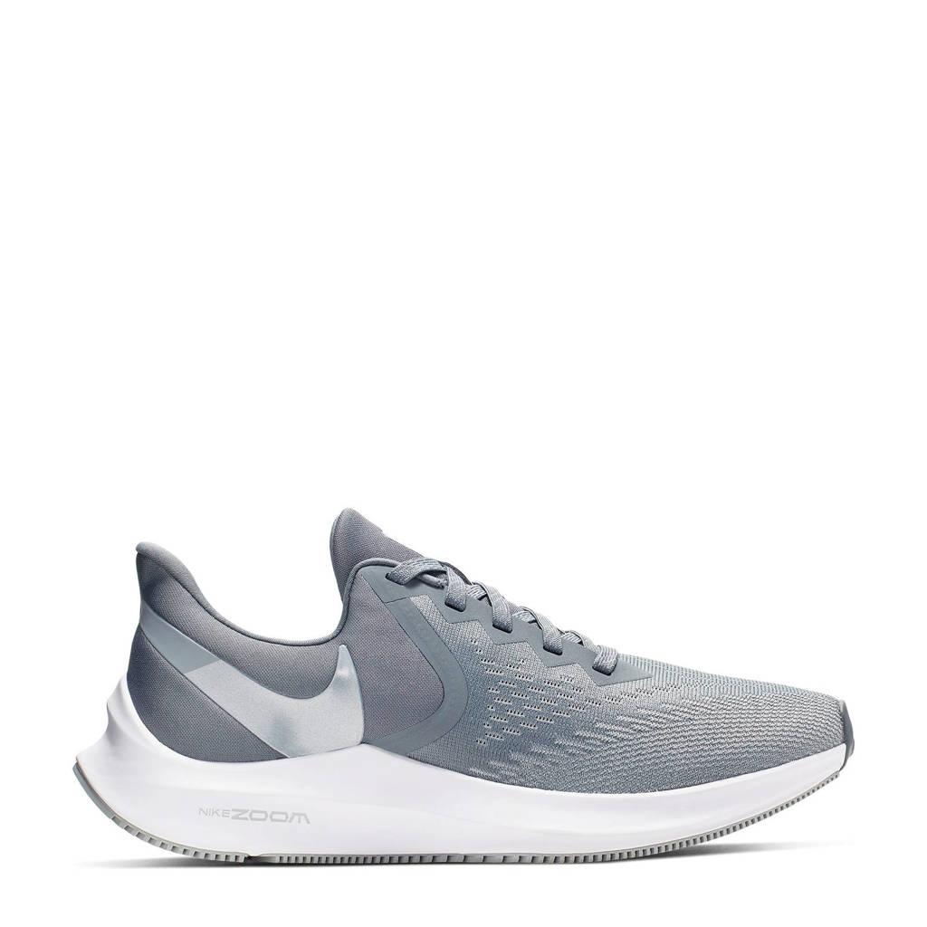 Nike Air Zoom Winflo 6 hardloopschoenen grijs, Grijs/wit