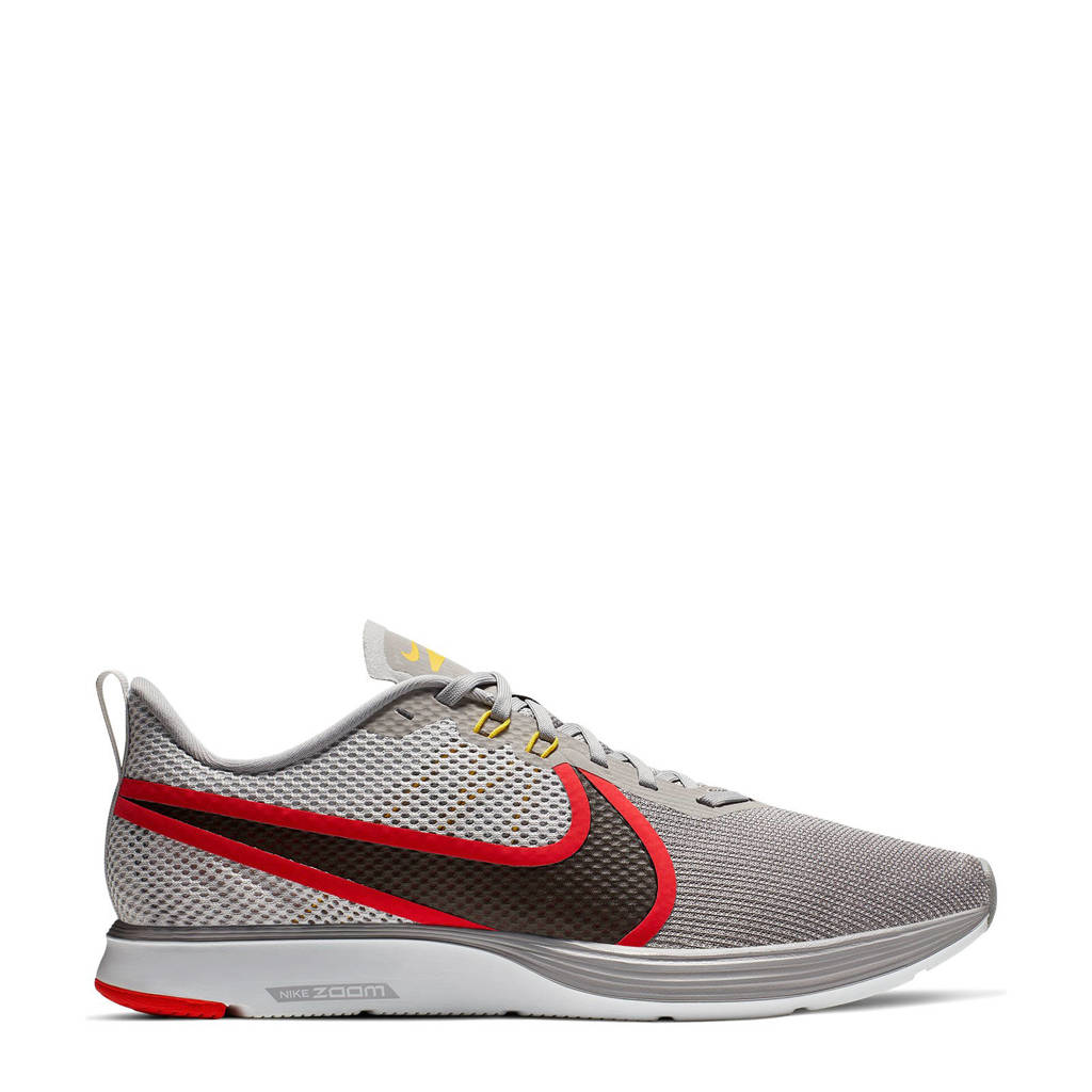 Nike Zoom Strike 2 hardloopschoenen, Grijs/rood/zwart