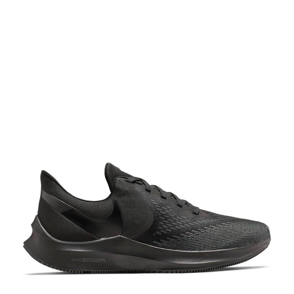 Nike Air Zoom Winflo 6 hardloopschoenen zwart/antraciet, Zwart/antraciet