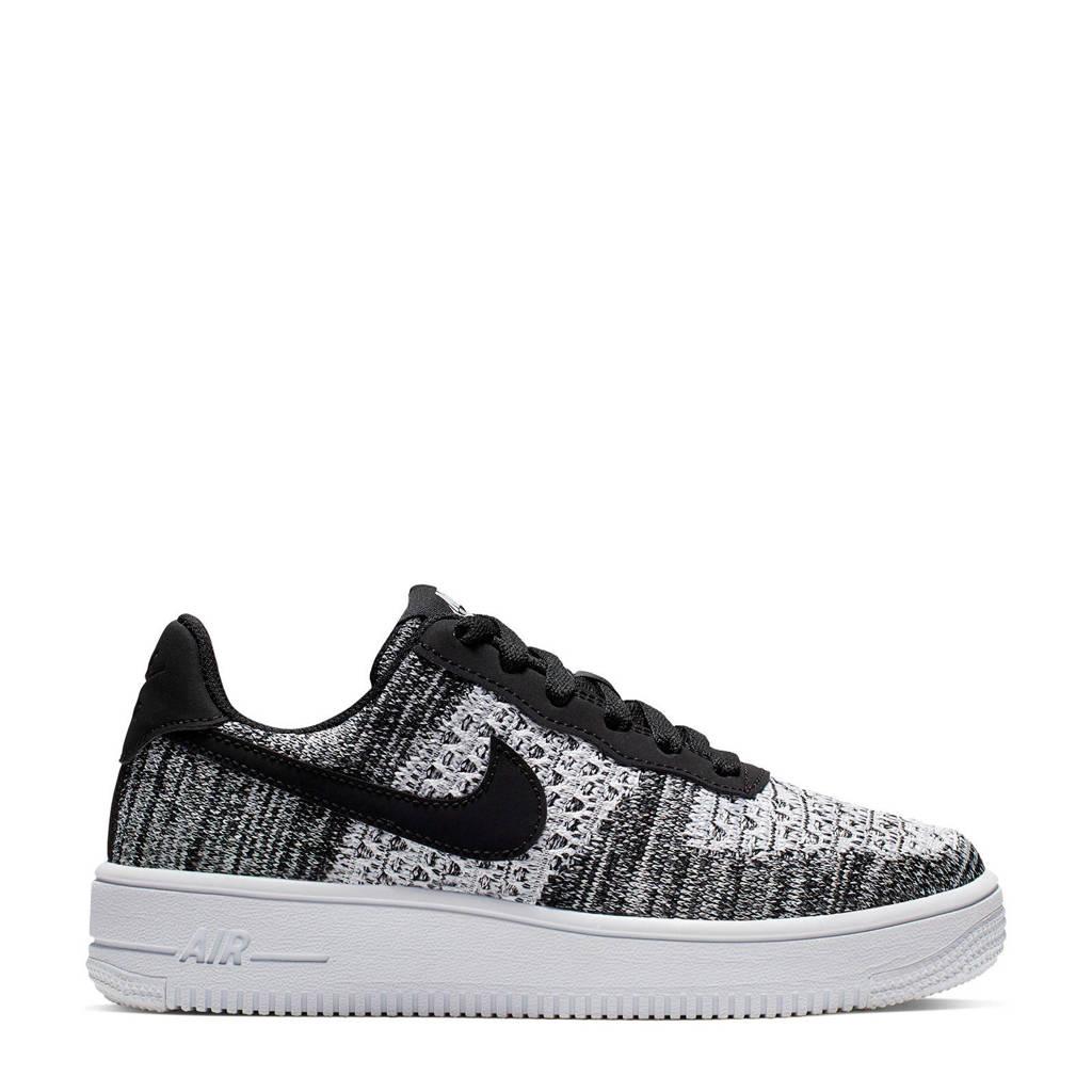 Nike Air Force 1 Flyknit 2.0 sneakers zwart/wit, Zwart/wit