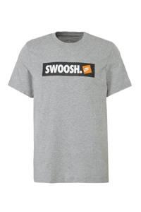 Nike   sport T-shirt met printopdruk grijs, Grijs