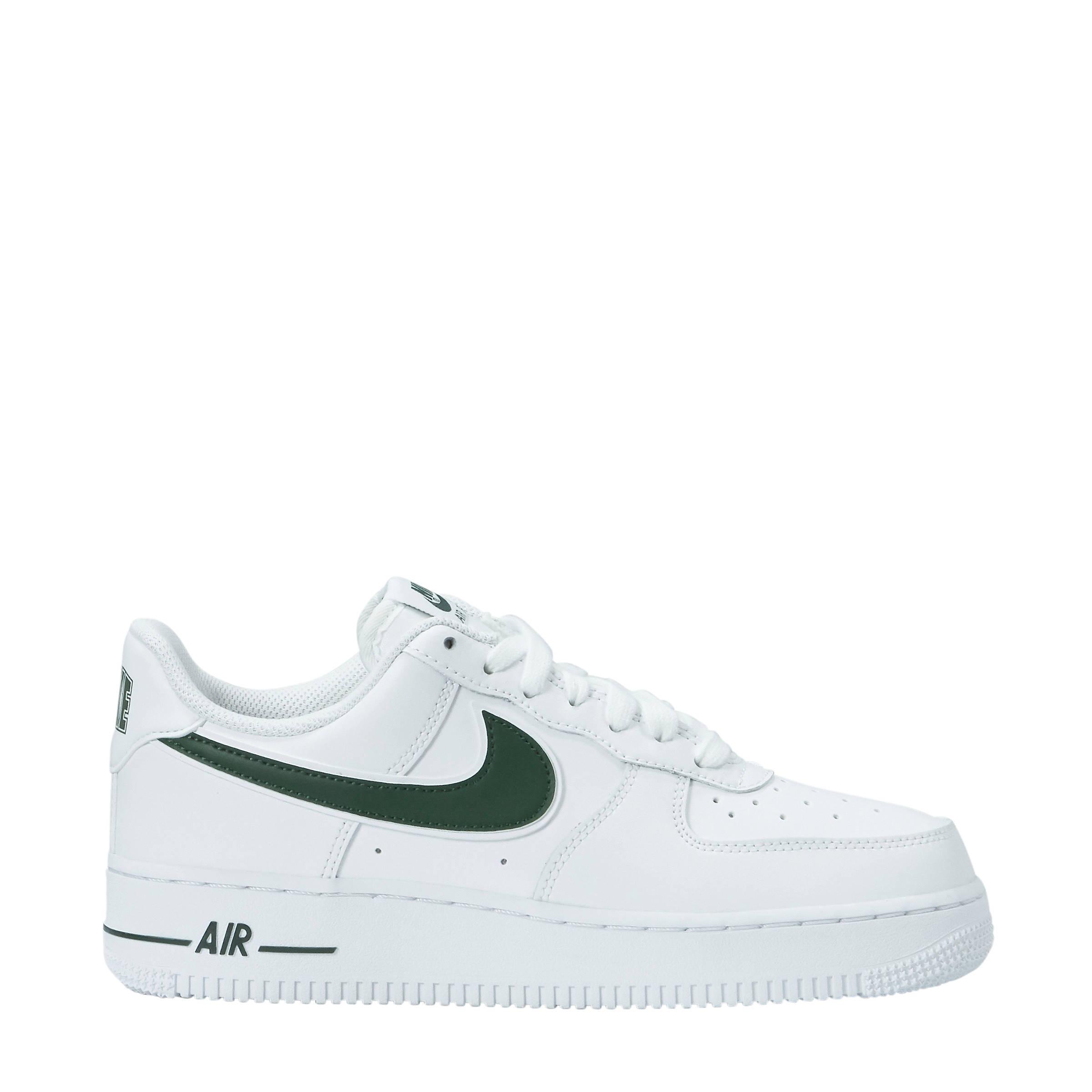 Air Force 1 '07 3 sneakers leer wit/groen