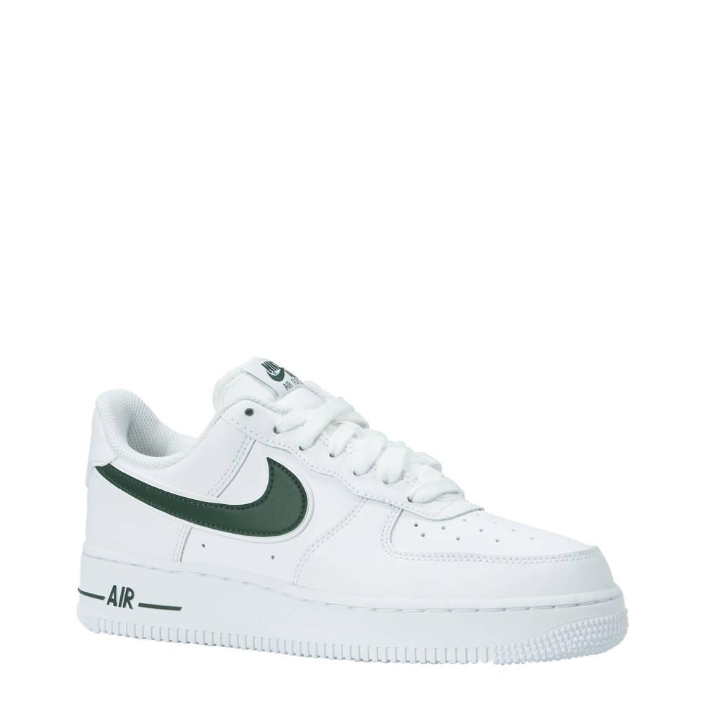 544ed59169f Nike Air Force 1 '07 3 sneakers leer wit/groen, Wit/groen