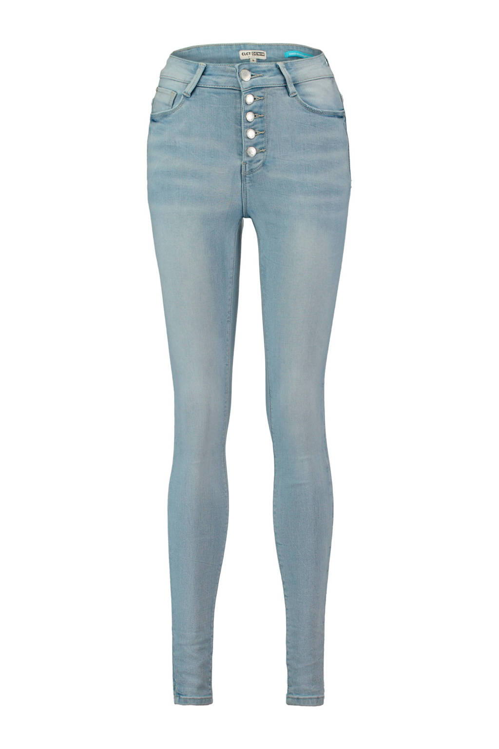 CoolCat high waist skinny jeans, Stonebleached