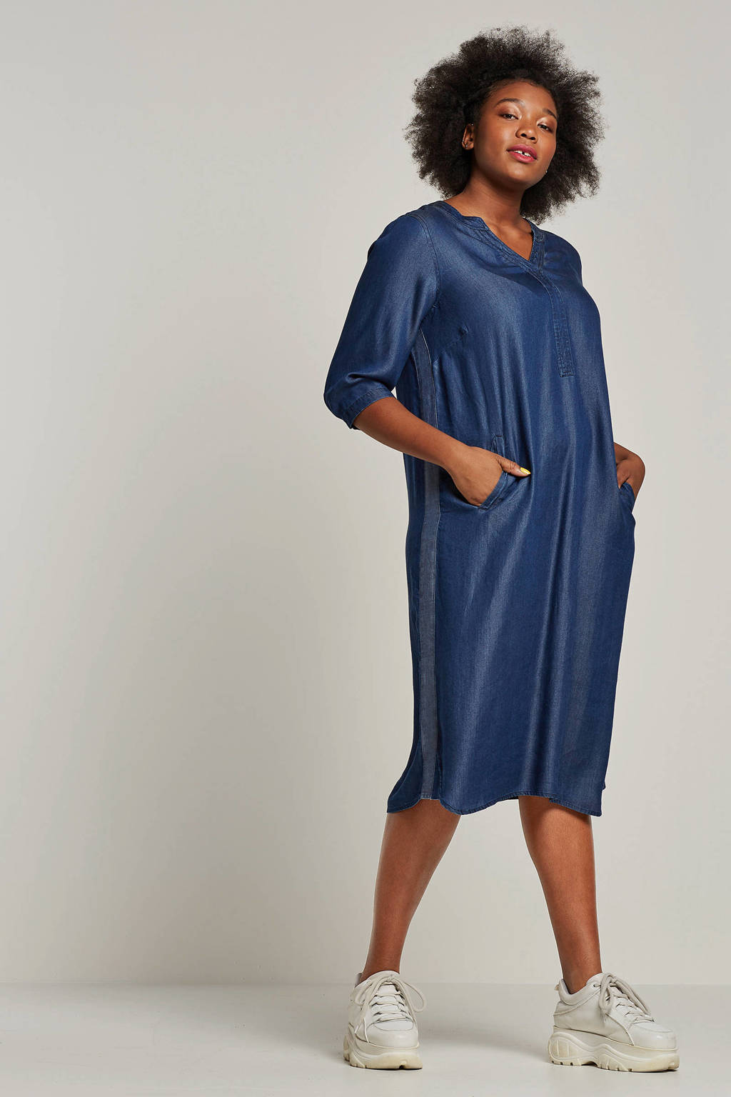 Yesta denim jurk, Blauw