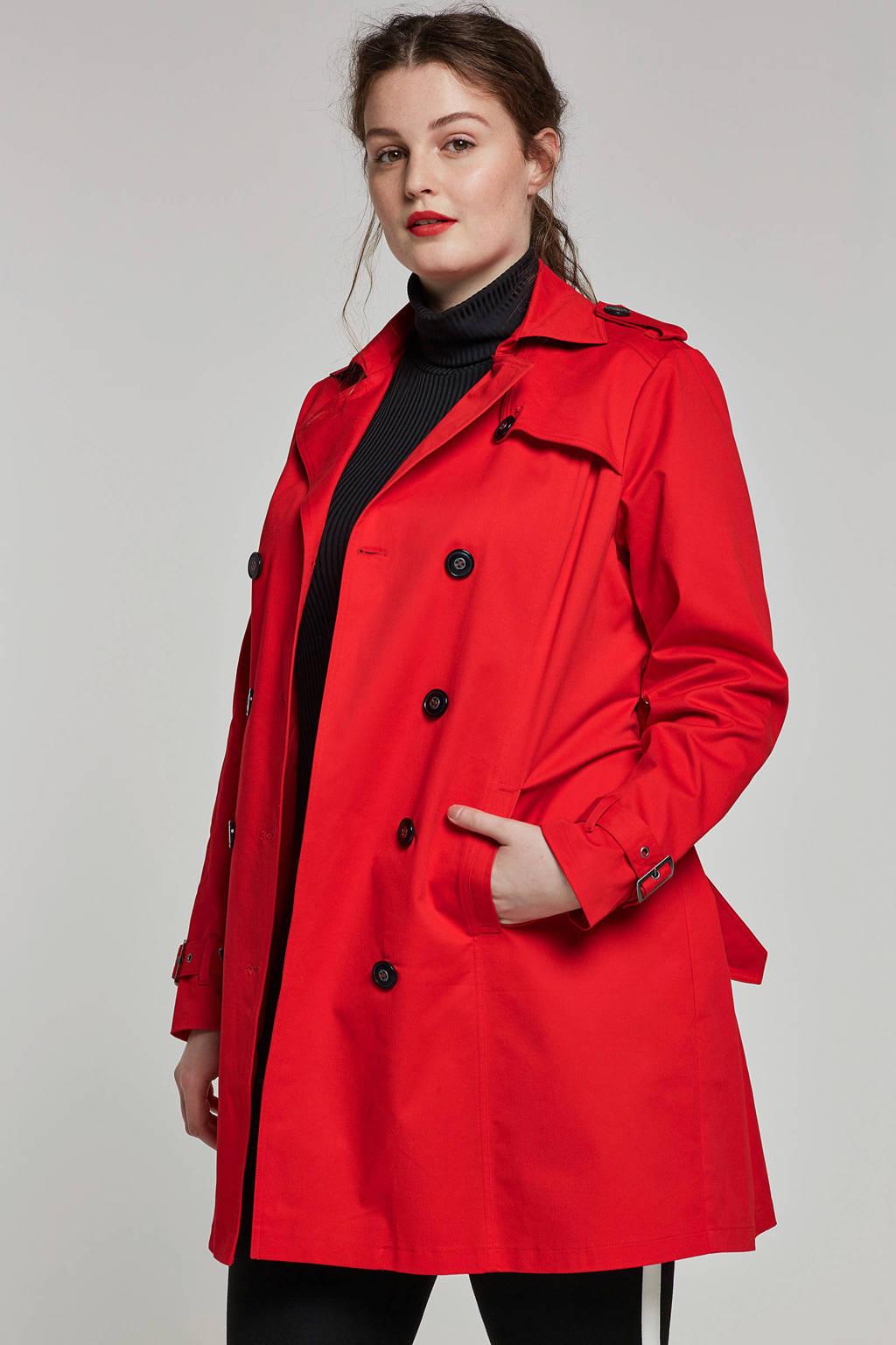 Yesta trenchcoat rood, Rood