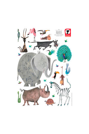muursticker Fiep Westendorp dieren (set van 23)