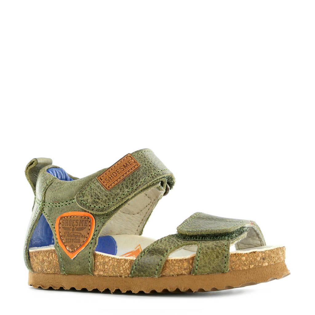 Shoesme leren sandalen kaki, Kaki