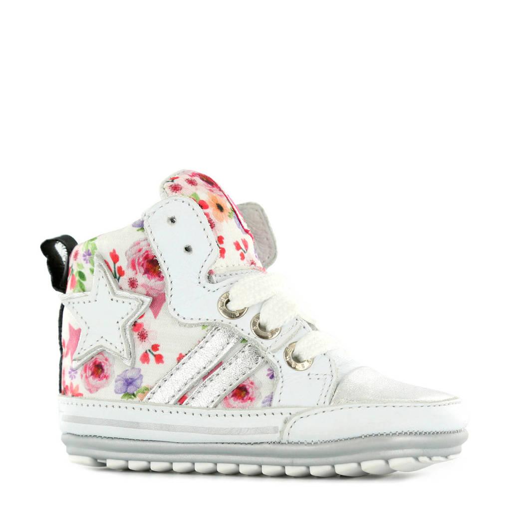 Shoesme   gebloemde babyschoenen wit, Wit