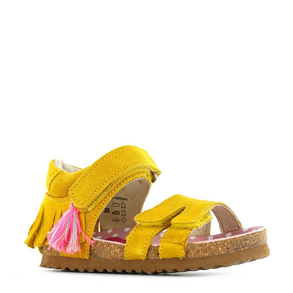Shoesme suède sandalen geel, Geel
