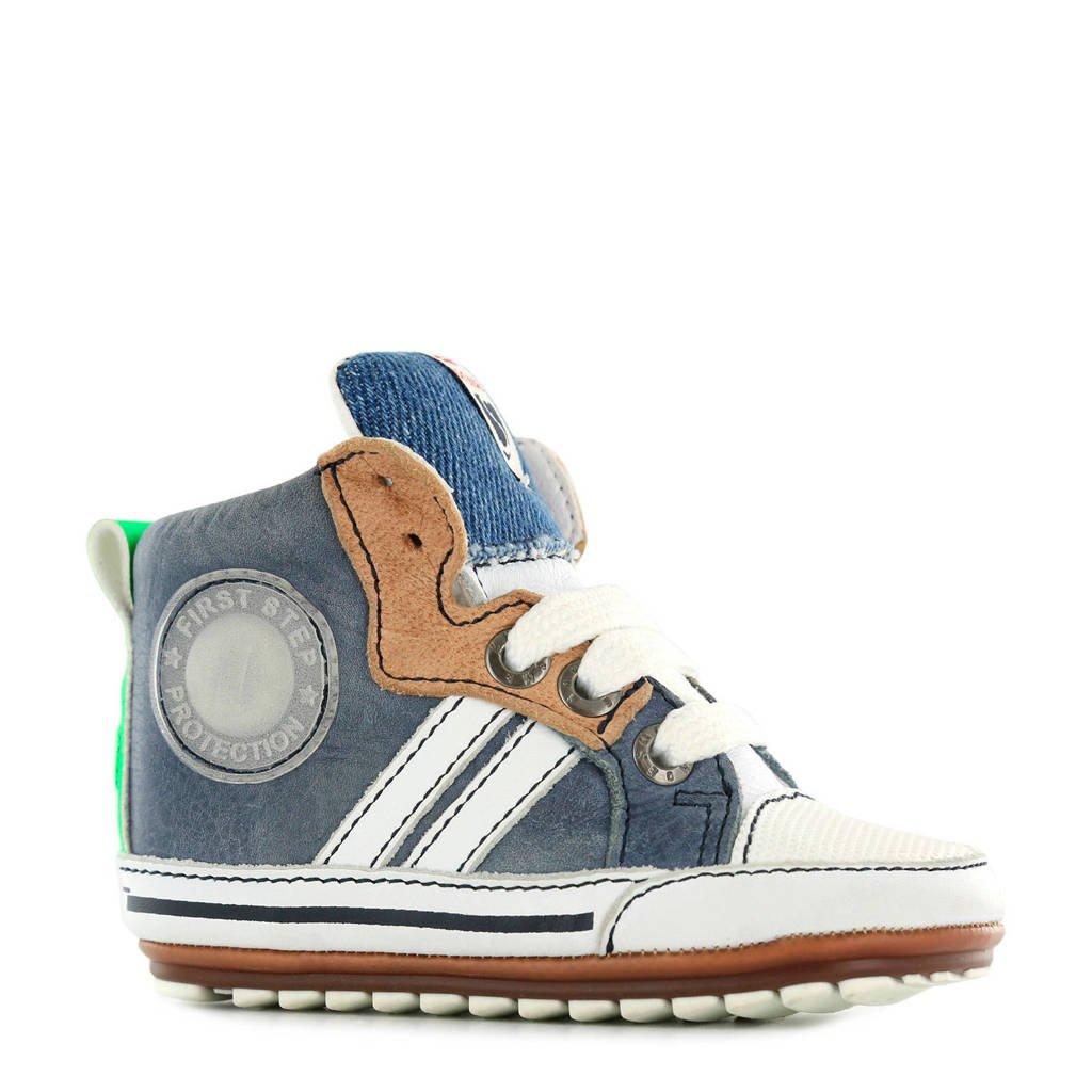Shoesme leren babyschoenen blauw, Denim blauw
