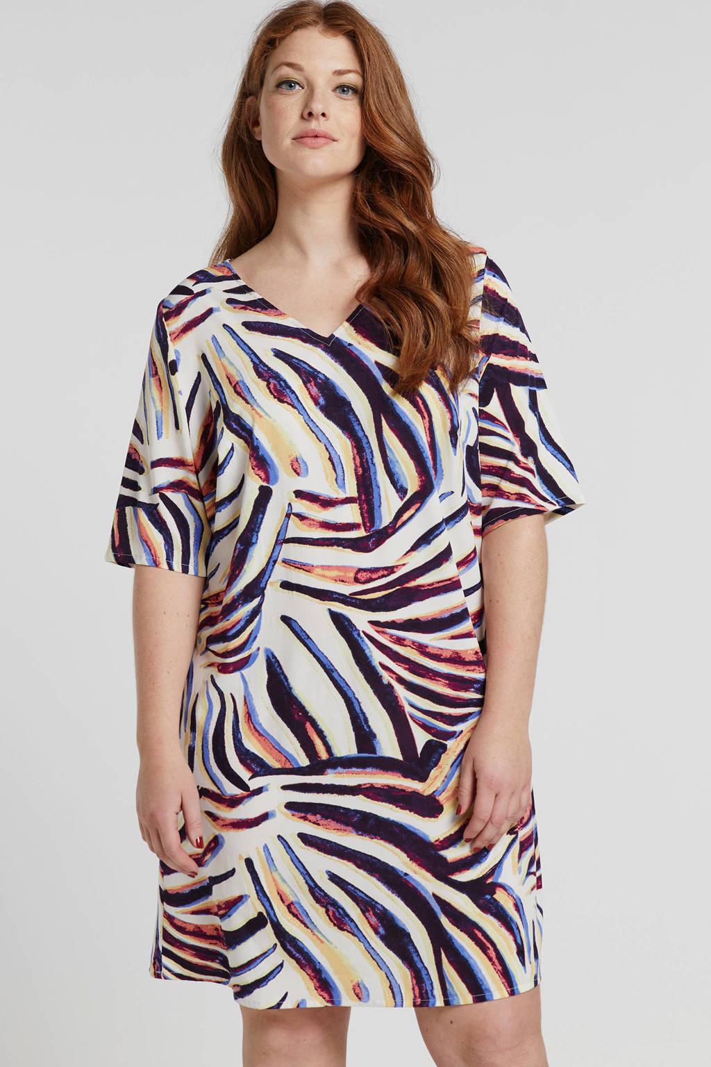 JUNAROSE jurk met all over print, Beige/multi