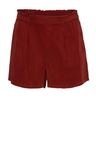 loose fit short donkerrood