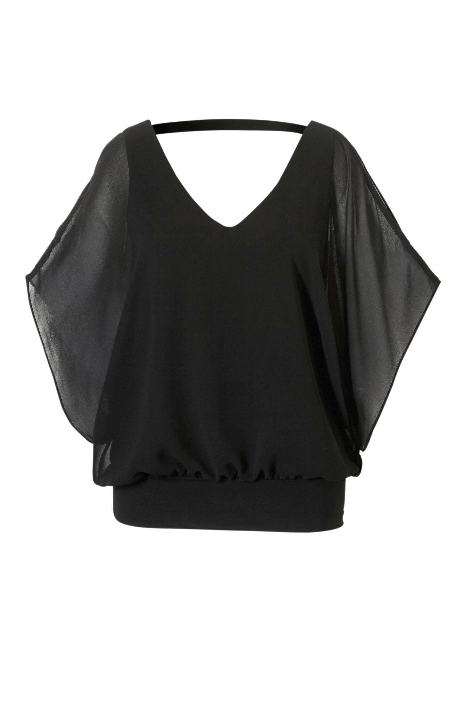 shirt met afhangende schouder