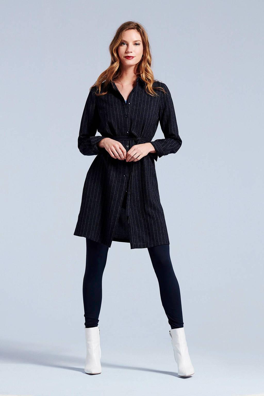 Didi blousejurk met krijtstreep dessin, Dark denim