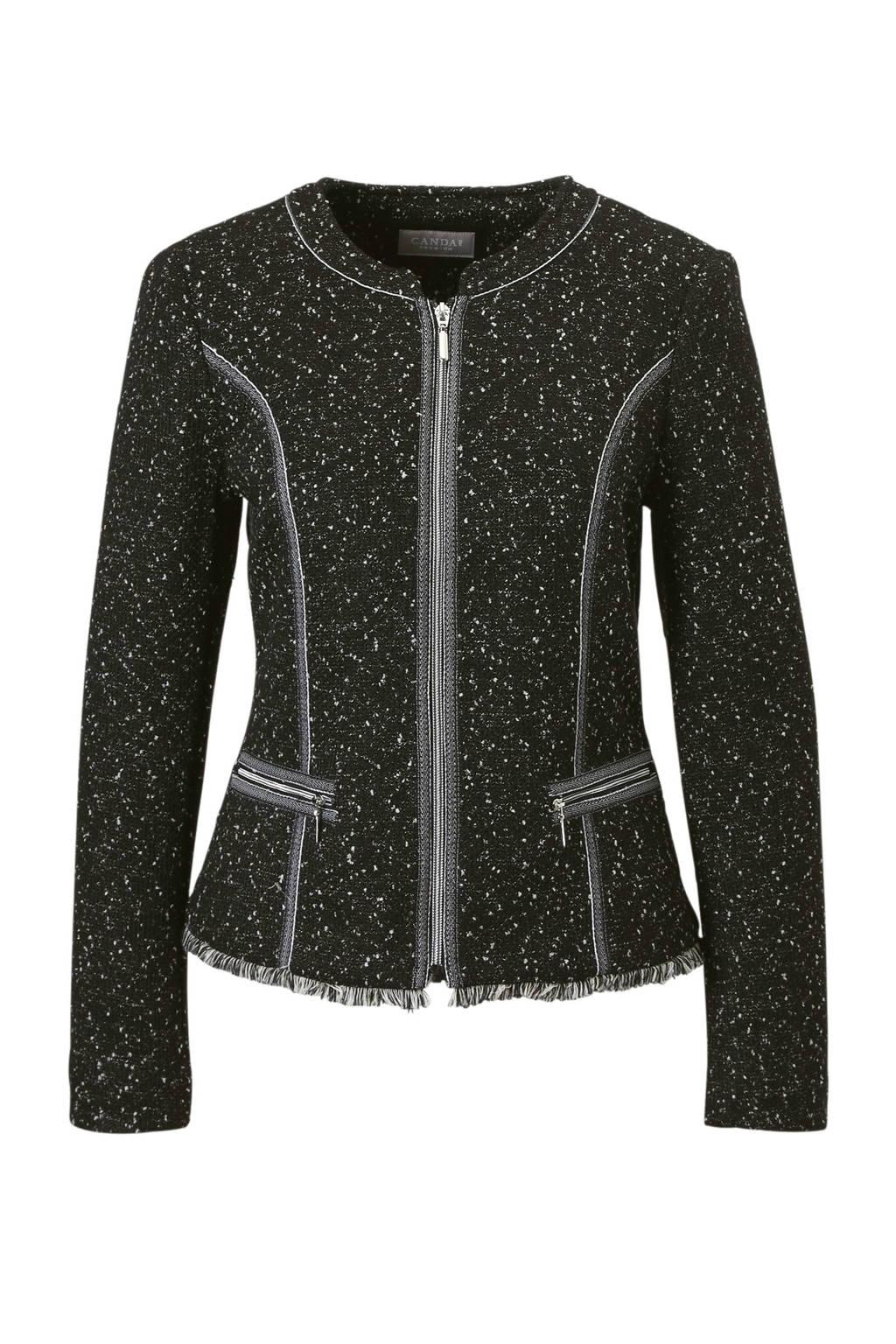 C&A Canda Canda blazer, black+whitepepperboucleknit