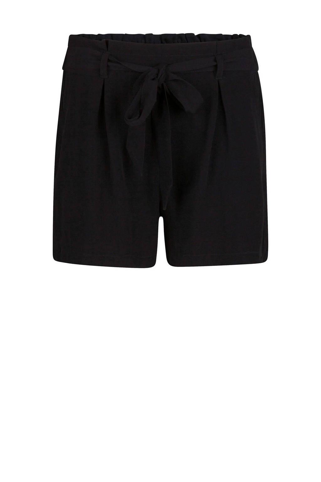 WE Fashion short met panterprint, Zwart