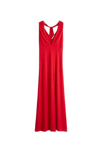 soepelvallende maxi jurk rood