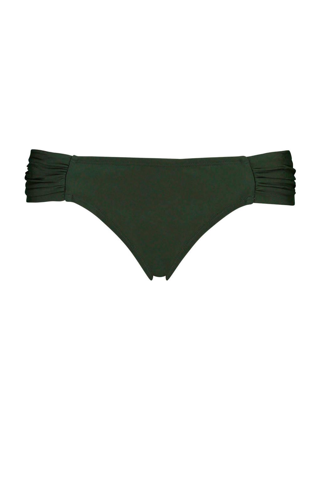 Hunkemöller Mix & Match bikinibroekje Sunset Dreams met plooien groen, Groen