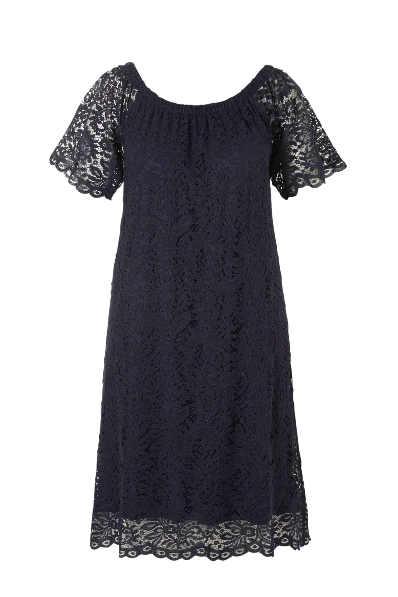 lange zwarte jurk maat 48