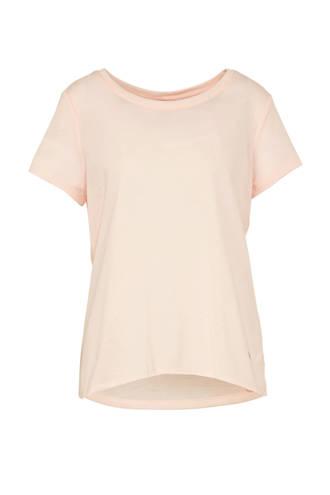 sport T-shirt met open detail roze