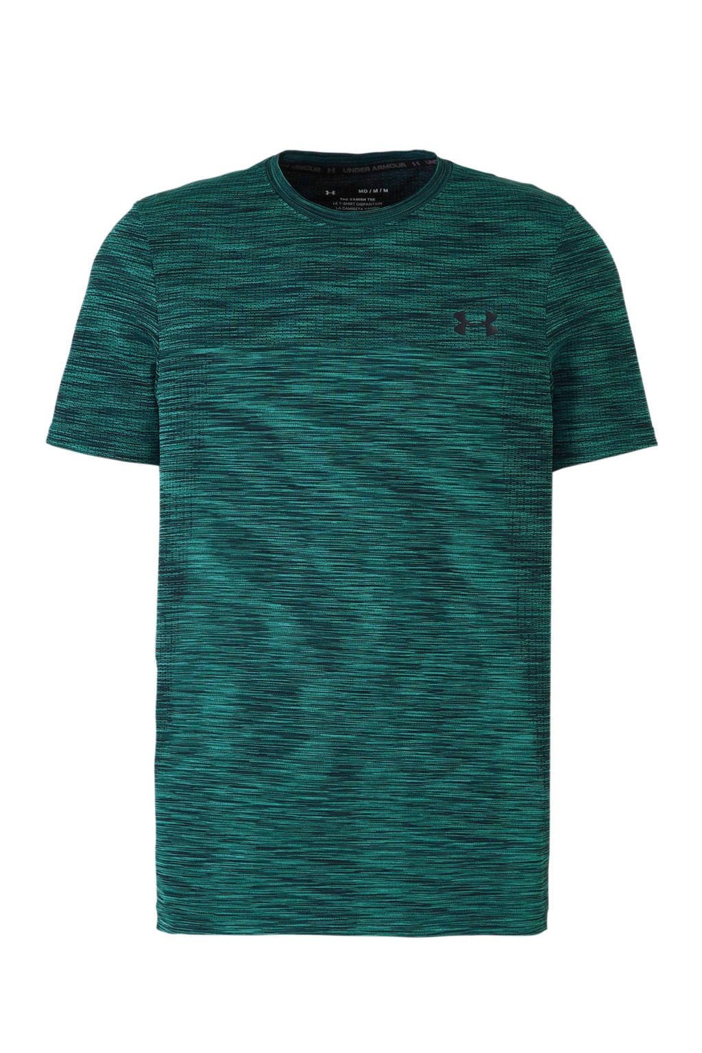 Under Armour   sport T-shirt turquoise melee, Turquoise/donkerblauw