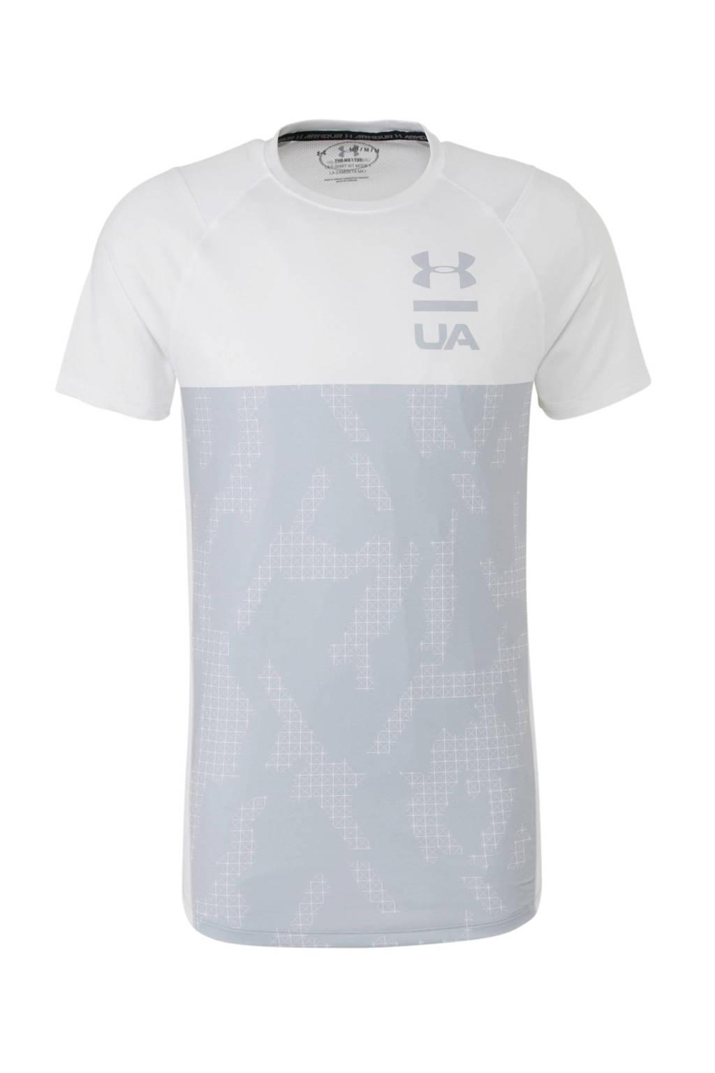 Under Armour   T-shirt wit/lichtblauw, Wit/lichtblauw