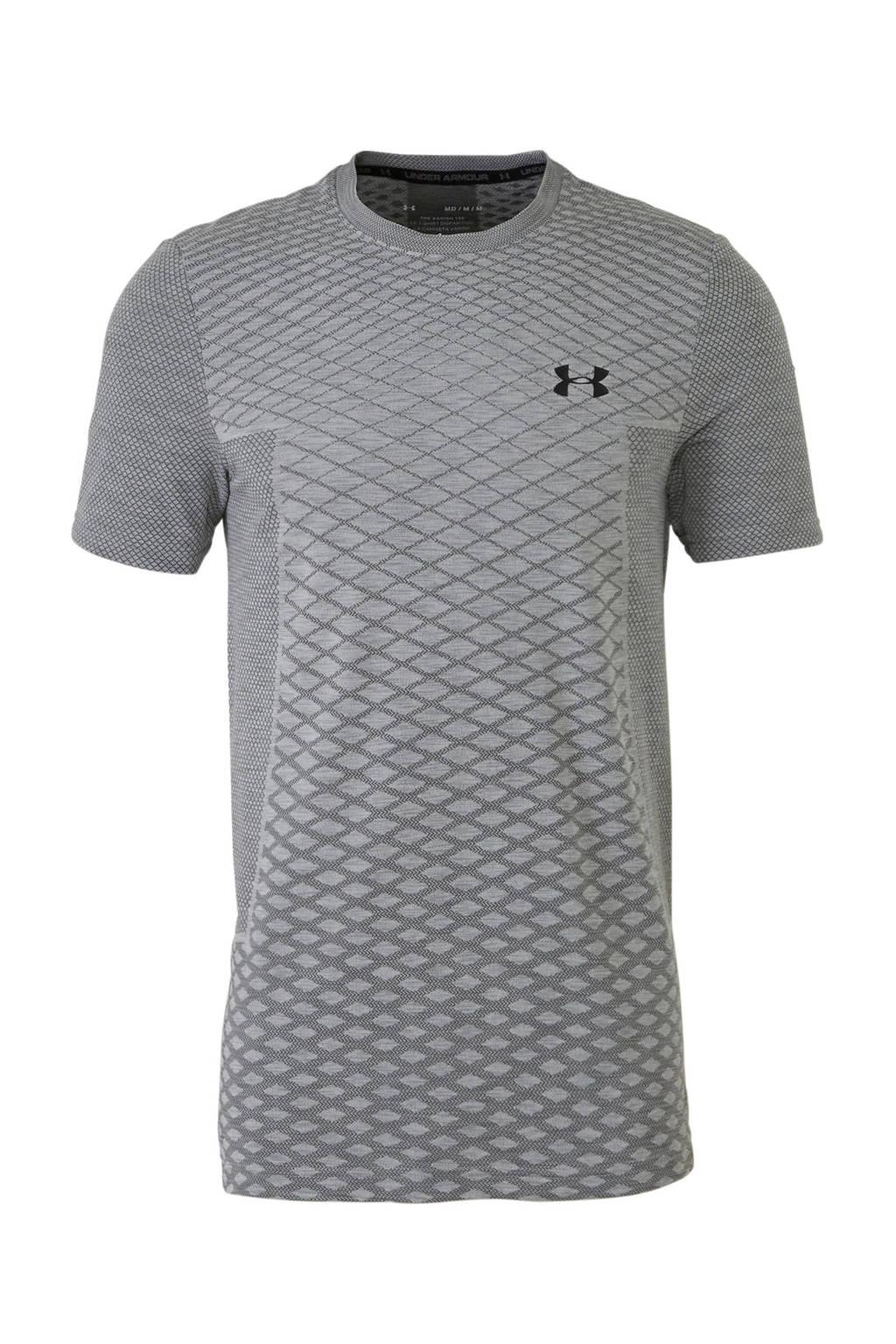 Under Armour   sport T-shirt groen/zwart, Grijs