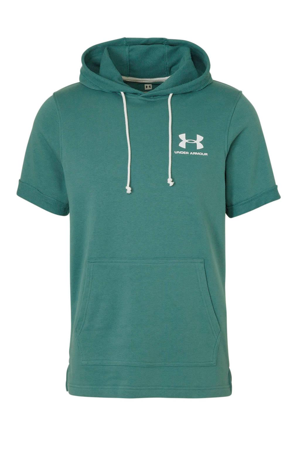 Under Armour   sportsweater korte mouw groen, Groen