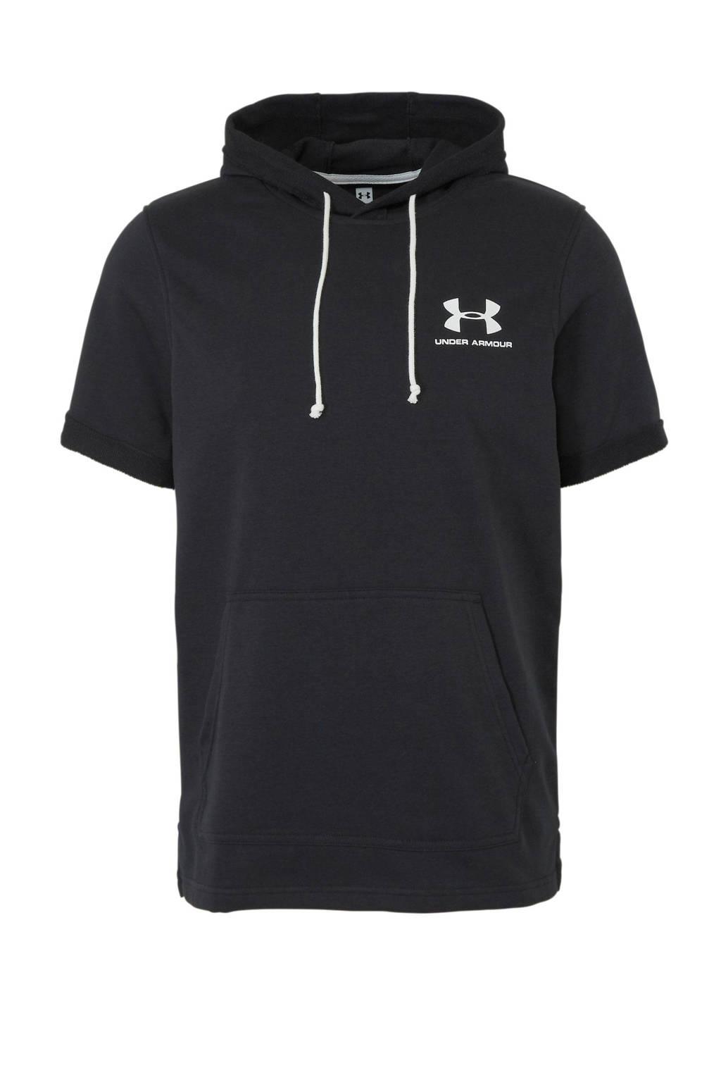 Under Armour   sportsweater korte mouw zwart, Zwart